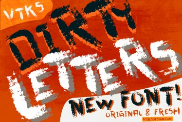 Dirty Letters new font