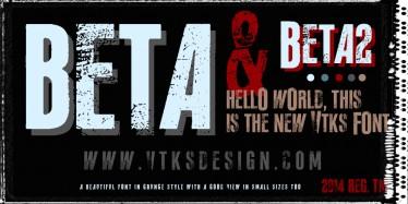 Beta new font