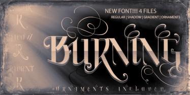 Burning new VTKS font | 4 files