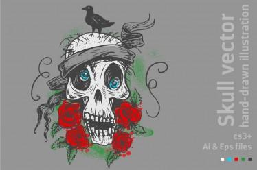 BUY IT! Skull Hand Drawn CS3+